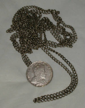 Peranakan silver chain belt with coin