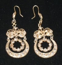 A pair of magnificent old earrings.