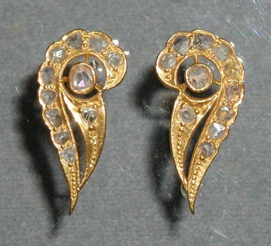 Sawat design gold earrings.