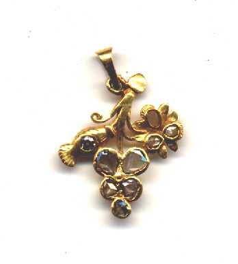 24k gold pendant with intan